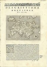 Antique maps, Scio [Porcacchi, 1576]