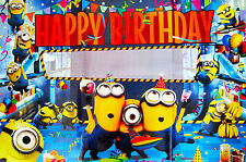 DESPICABLE ME MINION HAPPY BIRTHDAY POSTER/BANNER - PARTY SUPPLIES