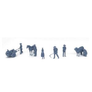 Outland Models Railroad Scenery Country Farmer Peasant Figure Set HO Scale 1:87