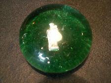 feve ancienne inclusion boule presse-papiers religion verre sulphide glass