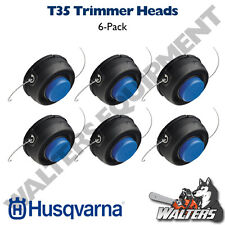 (6 Pack) Genuine Husqvarna T35 Trimmer Head Assembly 10mm