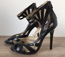 Jimmy Choo for H&M Black High Heel Sandal Leather Size 7us💙