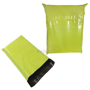 STRONG NEON GREEN COLOURED MAILING BAGS POLY POST PLASTIC POSTAGE BAGS SELF SEAL