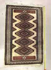 """New listing Antique Persian Oriental Table Rug Primitive Estate Hand Made 60x38"""""""