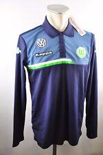 VfL Wolfsburg Polo Shirt Kappa Gr. M VW Team blau langarm Volkswagen Sponsor