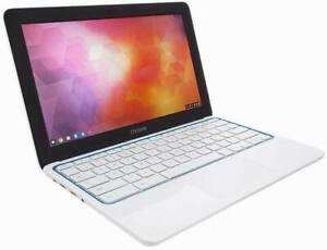 "HP white Chromebook laptop 11.6"" HD LED-backlit 16GB SSD 2GB  HDMI WiFi cam ub3"