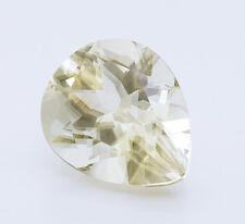 4.40ct Aragonite GIA Certified Light Yellow Gemstone. Pear Shape. Czech Republic