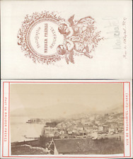 Bruder frères, Suisse, Vue de Neufchâtel  Vintage CDV albumen carte de visite