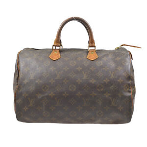 LOUIS VUITTON SPEEDY 35 HAND BAG PURSE MONOGRAM CANVAS M41524 VI0992 62717