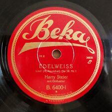 "Harry Steier - Edelweiss - Der Tiroler und sein Kind - Beka - /10"" 78 RPM"