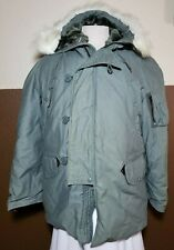 Vintage US ARMY Extreme Cold Weather Flight N-3B Parka Military Jacket Size M