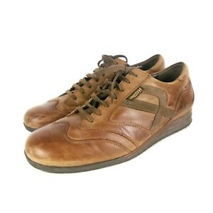 Mens Mephisto Travel's Schock Absorber Casual Shoes Brown Leather Size UK 9.5