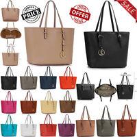 New Womens Bags Ladies Fashion Tote Bag Faux Leather Designer Shoulder Handbag