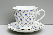 Cup and Saucer RETRO, bone china, LOMONOSOV IMPERIAL PORCELAIN, Russia
