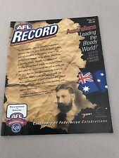 AFL 2001 Football Record Collingwood V Carlton Round 6