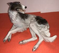 Borzoi-Russian Wolfhound Rosenthal Selb Small Reclining Porcelain Figurine