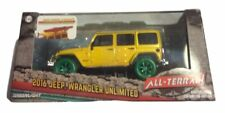 Greenlight 1:43 2016 Jeep Wrangler w/ Winch, Snorkel & Kayak Green Machine