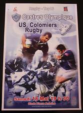 Affiche RUGBY - TOP 16 - saison 2001-2002 - CASTRES OLYMPIQUE / US COLOMIERS