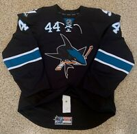 San Jose Sharks Marc Edouard Vlasic '14-'15 Alternate Black Game Worn Jersey NHL