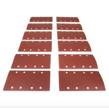 Wen 1/3 Sheet Sander Hook and Loop Abrasive Sanding Sandpaper 12 Pack Assorted