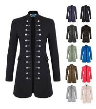 AO Damen Coat Anzugjacke Blazer Uniform Stil Sakko Military Slim Fit Business