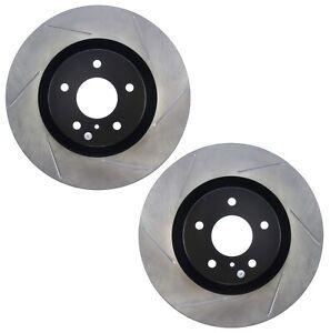 Pair Set of 2 Front Stoptech Sport Slot Disc Brake Rotors for Infiniti G35 350Z