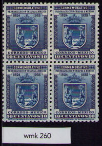 cm46 Mexico #734 10ctv wmk 260 Chiapas Block 4 Mint Never Hinged est VF