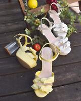 LIZ LISA - Double ribbon clear heel sandals ( Japan kawaii lolita )