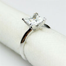 3.00 carat Diamond Princess Size O Engagement Ring Platinum never tarnish finish