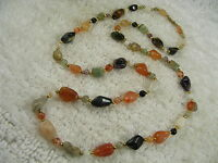 Mixed Agate Stone Necklace (A44)