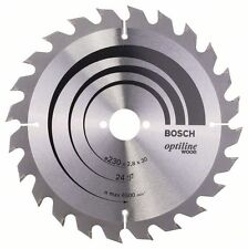 Bosch Optiline Lama Legno Sega Circolare 230x30x24 2608640627