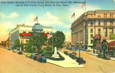El Paso,TX. The Civic Center, U.S. & County Court Houses & City Hall