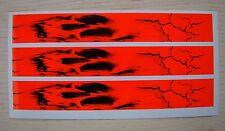 Carbon Arrow Wraps Bhh Custom Flo Red Zombie Skull 13 Pack
