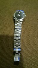 MOVADO WOMEN'S STAINLESS STEEL QUARTZ WATCH wrist XSMALL