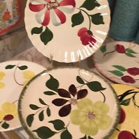 Blue Ridge Southern Potteries Hand Painted Dinner Plates Lot Of Five