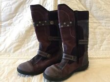 Ecco Girls Leather Boots Size 32