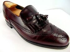 Dexter 9 M Wingtip Dress / Casual Shoe with Tassles Brown Leather Slip On Loafer