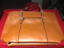 Women's Vintage Style Soft Leather Work Tote Large Bag Brown NWT