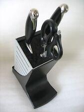 Tupperware Knife Block Black/Gray Vintage USED Clean
