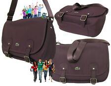 New Vintage LACOSTE Ladies MESSENGER SATCHEL Shoulder Bag ED Classic 15 Claret