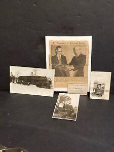 Vintage TROLLEY Streetcar Radial Railway Photo POSTCARD Lot of 4