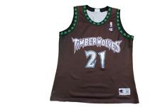 Maillot basket rétro Timberwolves Minnesota N°21 Garnett NBA