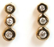 14k Solid Yellow gold Diamond=.25 carats Earrings
