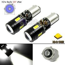 2pcs High Power Canbus Error Free White Bay9s H21W 64136 CREE LED Lights Bulbs