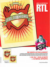 PUBLICITE ADVERTISING 094  2012   RTL radio LE BAL DES ENFOIRES RESTOS DU COEUR