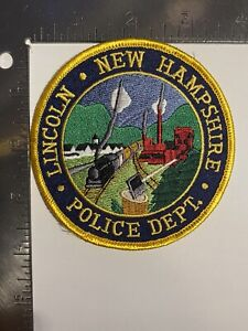 LINCOLN NEW HAMPSHIRE POLICE DEPARTMENT PATCH