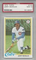 1978 Topps baseball card #175 Jerry Morales, Chicago Cubs graded PSA 9 MINT