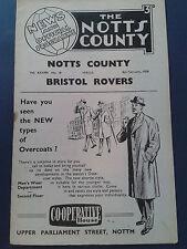 NOTTS COUNTY V BRISTOL ROVERS, DIV 2, 8TH FEB 1958