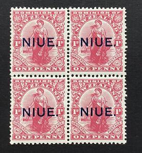 Niue George V 1917 1d carmine x 4 u/m SG 24 (ct£40overall)