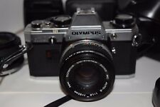Olympus - om10, 1-50mm - 1:1.8 and 28mm 1:28 lenses, Case, flash